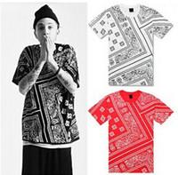 Men top brand t-shirts - La Rhude Bandana Ktz West Coast Flowerscashew Fashion Brand Designer Harajuku Short Sleeve T Shirts Men Tops Tee Colors