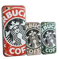 alien paintings - Starbucks Queen iphone6plus inch mobile phone shell Apple aliens painted matte protective sleeve