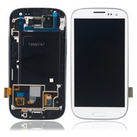 For Samsung galaxy s3 digitizer - For Samsung Galaxy S3 I9300 I9308 I9305 T999 i535 I747 LCD Touch Screen Digitizer Assembly replacements with frame White Blue color