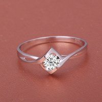 lab created - Hot Sale K White Gold Heart Shape Ct Lab Created Moissanite Engagment Rings For Women Gift gemstone jewelry