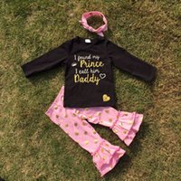 girls boutique clothes - winter boutique outfits I CALL HIM DADDY print long sleeves gold dot pants boutique girls clothes sets