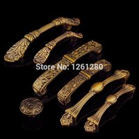 antique door parts - metal handle zinc alloy furniture handle European antique kitchen shoe cabinet door knob drawer pull Hardware part