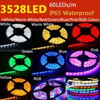 SMD 3528 epoxy resin - Free DHL M Roll DC12V IP65 Epoxy Resin Wateproof SMD LED M LEDs Flexible LED Strip White Warm White Red Blue Green Pink RGB Colors