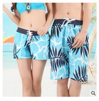 Cheap Wholesale- Top quality 2016 Summer women mens swimming shorts Beach shorts Fashion couple swimwear Summer pants Quick-dry Beach shorts pants