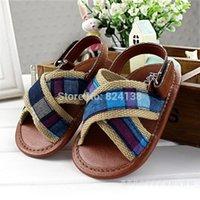 Wholesale brown boy baby sandals soft sole toddler shoes for summer pre walker first walker kids shoes infant shoes