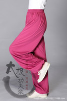 Wholesale Genuine breathable milk silk pant summer practice Tai Chi exercise yoga pants men colors