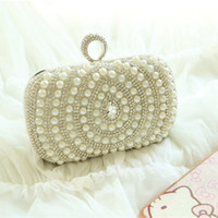 beaded cases - Pearls Shaped Evening Bags Cheap Evening Bags Sexy Crystal Beading Hard Case Bags New Arrive Vintage Beaded Bag Sexy Bridal Accessories