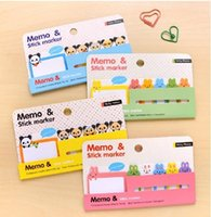 Wholesale Children s stationery New cute Cartoon animals Notepad Note Memo pad Notebook Fashion dandys
