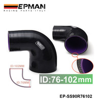 Wholesale Tansky EPMAN High Quality quot quot mm mm Ply Silicone Intercooler Degree Elbow Hose BLACK EP SS90R76102