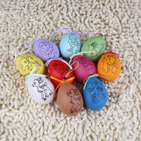 Wholesale Lin Fang g simulation color painted egg shell egg mold DIY color color blank decorative ornaments Easter Eggs