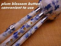 Wholesale Chinese Cucurbit Flute Hulusi Resin Gourd Flauta Hulusi C Bb Key Blue and White Porcelain Calabash Flute Hulusi Folk Instrument