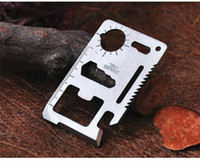 Cheap Hot Sales Multi Tools 11 in 1 Hunting Camping Survival Pocket Outdoor Gear Card Knives Stainless Steel C78 Free Shipping