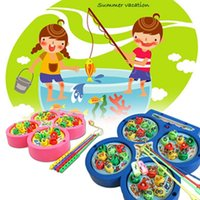 Wholesale Electric Rotating Magnetic Kids Fishing Toys Children Educational Fishing Game