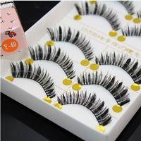 artistic hair - Japanese Natural Thick False Eyelashes Artistic Human Hair Best Fake Eyelash Extensions Supplies Y pairs1lot