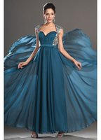 attractive woman dress - New Attractive A Line Chiffon Formal Prom Dresses Sequined Pleats Sweetheart Women Dress Sexy Backless Evening Gown