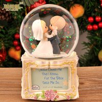 Wholesale Creative birthday gift to commemorate the wedding crystal ball music box music box to send his girlfriend girlfriends wife weddi
