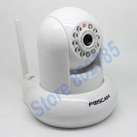 Wholesale FOSCAM Wireless Dual Audio Pan Tilt IP Camera FI8910W mm Lens IRCUT Two year Warranty White