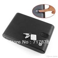 Cheap 120 Fingerprint Portable Gun Safe Biobox Cable Biometrics Pistol Electronic New Free shipping A5