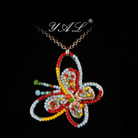 Women's crystal jewelry box - Yaljewelry Statement Necklaces Butterfly Pendants Women Crystal Pendant Floating Lockets Necklace Alloy Long Choker Body Jewelry Boxes