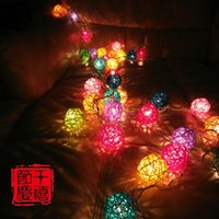 article rattan - 20 cane LED twinkle light Christmas tree decoration article battery LED lights creative chandeliers color light emitting light