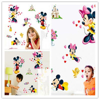 Wholesale Wall Decals Wall Decals Fashion Children Cartoon Character Printing and Waterproof Stickers Hot Kids Beautiful DIY Stickers