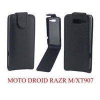 droid razr case - Flip Leather Pouch Purse Hard PU For Motorola Moto Droid Razr M XT907 XT890 Plain Smooth case skin vertical luxury Black cover slot