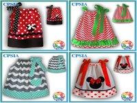 chevron dresses - Summer Girls Chevron Dresses Kids Novely Polka Dot Mickey princess Party Dress Children s Dancewear GIrls Hem Pillowcase Dress Kids Swimwear