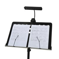 battery clip aa - LIXADA Portable Flexible Stand Clip LEDs LED Desk Reading Lamp Bendable Orchestra Piano LED Music Score Light AA Battery or USB order lt no