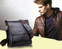 Wholesale PU Leather Mens Cross Body Bags Laptop Bags Best Leather Bags Zipper Pocket Fashion Business Briefcase Plain Pattern for