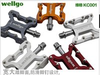 alloy folding bmx - 2015 Original Brand Wellgo Pedal fixed MTB BMX bicycle light pedals g pair Hight quality bike parts