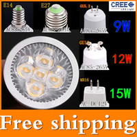 Wholesale GU10 GU5 E27 E14 MR16 W W W Dimmable W LED Sport light led bulb warm cold white W DC12V AC V V V