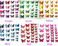 Wholesale 3D Butterfly Home Decoration DIY Butterflies Wall Sticker Removeable Wall Art Sticker