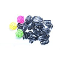 Wholesale Hot Sale Tooth Snap Clips For Hair Extensions Black Stainless Steel Grampo De Cabelo Wigs Weft Hair Tool Hair Extension Clips
