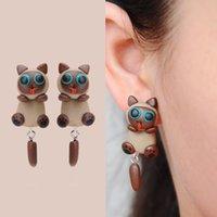 amber bear - 2016 handmade polymer clay earrings earrings cute cartoon bear polymer clay earrings