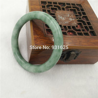 chinese jade jewelry - Pretty chinese natural Green jade Bracelets high quality Green Jadeite bangle Round bracelet for woman Jewelry mm