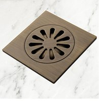 Wholesale floor drains Antique Brass drainers Bathroom Accessory water drain
