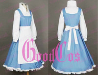 Unisex belle french - Beauty and the Beast Belle French maid Cosplay Costume Custom Any Size