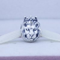 lion charms - Fine jewelry sterling silver jewelry charm lion king charms pendant Fit bracelet Diy gift to baby assessories jewellery CE356
