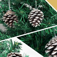 pine cones - 6Pcs Popular Natural Pine Cone Pendant Christmas Decorations Birthday Festival Party Ball Supplies Christmas Tree Party Decor