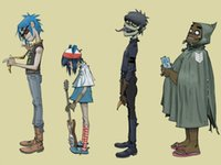 band poster art - P0424 Gorillaz Noodle Murdoch Russell Thec Band Music Background art poster x75cm