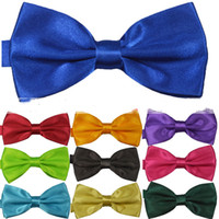 Wholesale High Quality solid High quality bow tie men bowtie womencommercial bow tie male solid color marriage bow tie