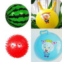 Cheap Kindergarten special children's inflatable ball. Baby watermelon balls, pat a small ball. Croissants ball 66g