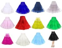 ruffle skirt - Real Image Colors Knee Length Skirt Slips Petticoat Crinoline Underskirt Swing Underskirt pannier bustle Fancy Net Skirt