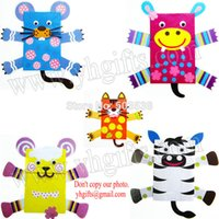 animal puppet crafts - DIY Paper animal hand puppets craft kit Animal crafts Early educational toys Creative toys Family fun design