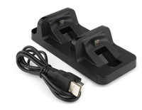 Wholesale Dual USB Charging Dock Station Stand for PS4 PlayStation Game Controller Black Charger