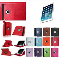 Wholesale High quality Flip Smart Stand Rotating PU Leather Case For Apple ipad with screen protector as gift