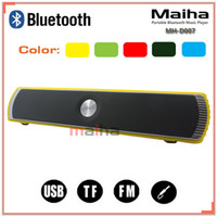Wholesale Maiha Portable Wireless Bluetooth Stereo Speaker TF AUX USB FM Radio with Built in Mic Hands free Good Bass HIFI Sound Speakers
