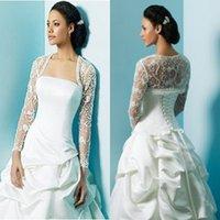 bolero jacket wedding dress - Bridal Jackets with Long Sleeves Hot Sell Sheer Bolero for Bride Beaded Covered Back Bridal Accessories Wrap Jacket for Wedding Dress