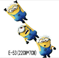 Wholesale Exterior Accessories cm Cute D Despicable Me minions Car Stickers car styling vinyl decal Cartoon sticker Cars Acessories decoration