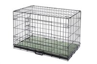 Wholesale Pet Folding Dog Crate Kennels Door Puppy Cage With Bed